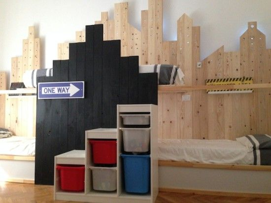 Two Ikea Kura beds   triple bunk bed  My last Ikea hack for the room of  three brothers  Great effect with a small budget. 17 Best ideas about Triple Bunk Bed Ikea on Pinterest   Triple