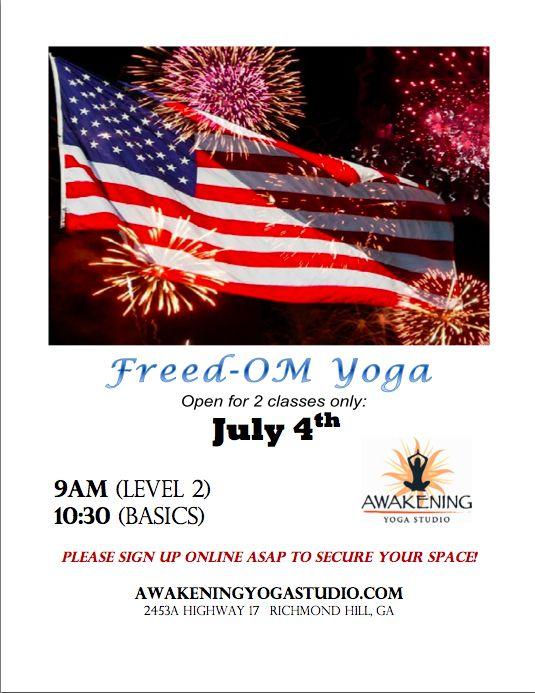fourth of july yoga