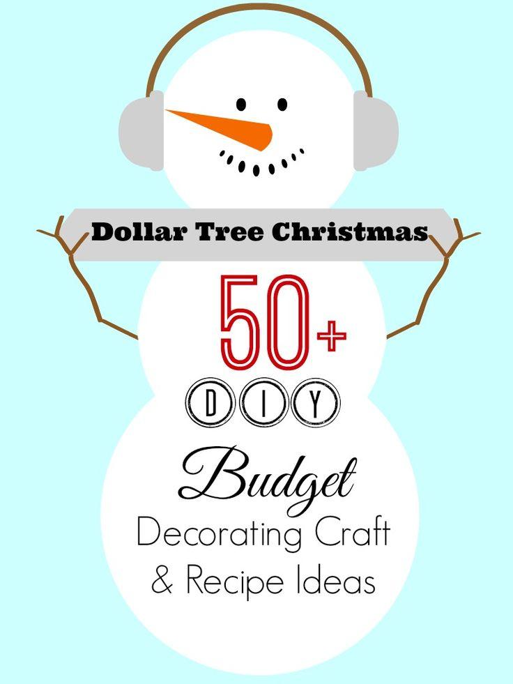 Dollar Tree #Christmas Decor Decorating Craft and Recipe Ideas   #christmasideas