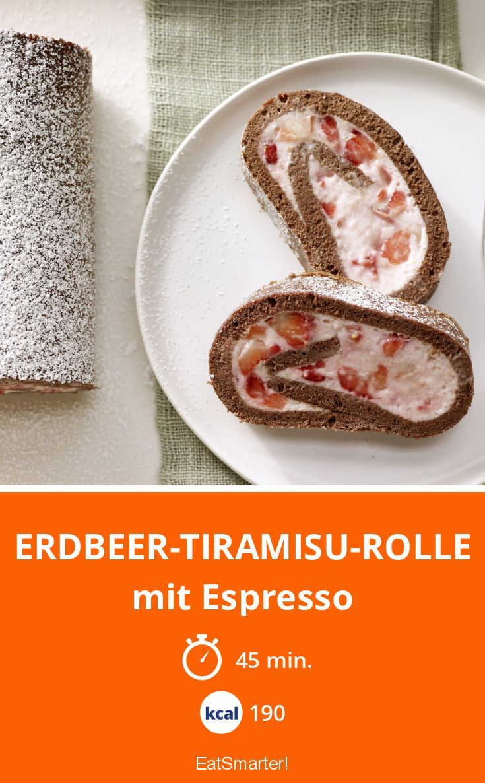 Erdbeer-Tiramisu-Rolle - mit Espresso - smarter - Kalorien: 190 Kcal - Zeit: 45 Min.   eatsmarter.de
