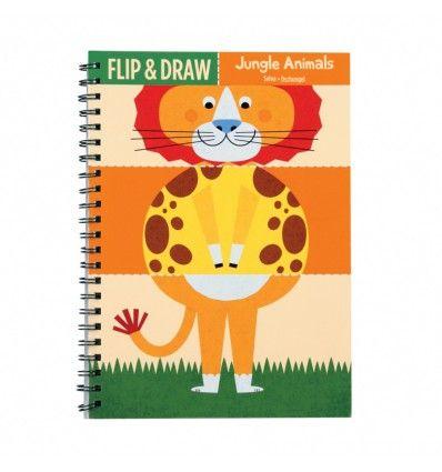 Zeszyt do nauki rysowania - Zwierzęta z dżungli