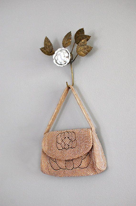 1940s beaded purse / vintage beaded purse