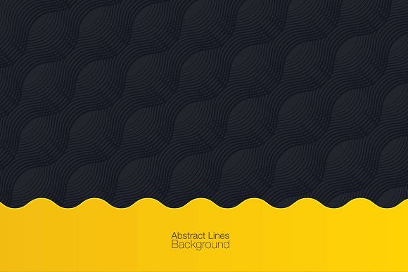 Black Yellow Abstract Background By Pixwork On Creativemarket
