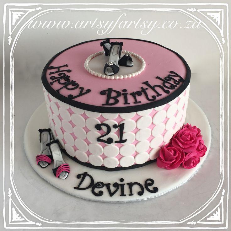 21st Hi Heel Cake #21stcake #hiheelcake