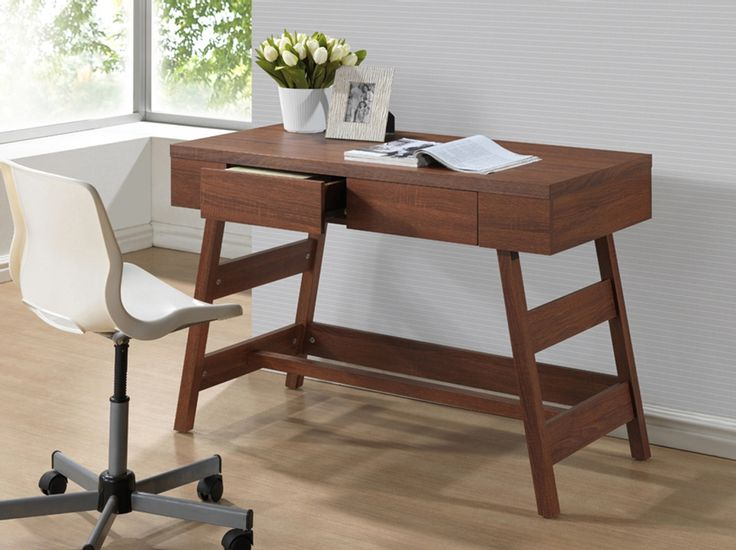 baxton studio trapezoid writing desk affordable modern furniture in chicago