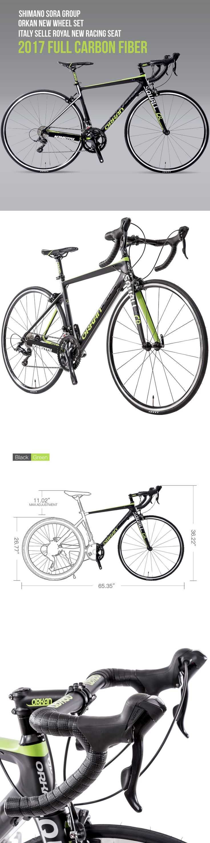 bicycles: Racing Bicycle 700C Road 18 Speed Bike Full Carbon Fiber Frame Shimano Cycling -> BUY IT NOW ONLY: $599 on eBay!