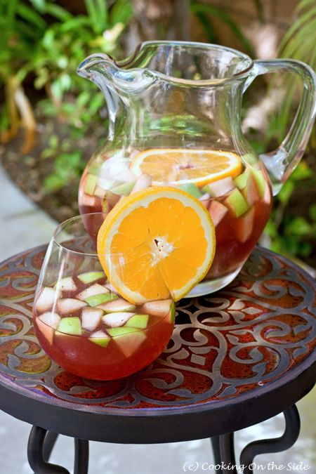 Red Tea Sangria, from Cooking on the SideSangria Teas, Red Teas, Teas Sangria Another, Teas Vodka, Food, Sweets Teas, Sangria Recipe, Cocktails Drinks, Teas Sangria Thy