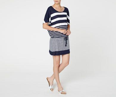 Beachwear - OYSHO. Vestido raya marinera. 22.99 euros