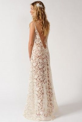 http://eshop.delphinemanivet.com/25-216-thickbox/long-dress-in-vintage-guipure.jpg#TheLANEWeddings #DelphineManivet