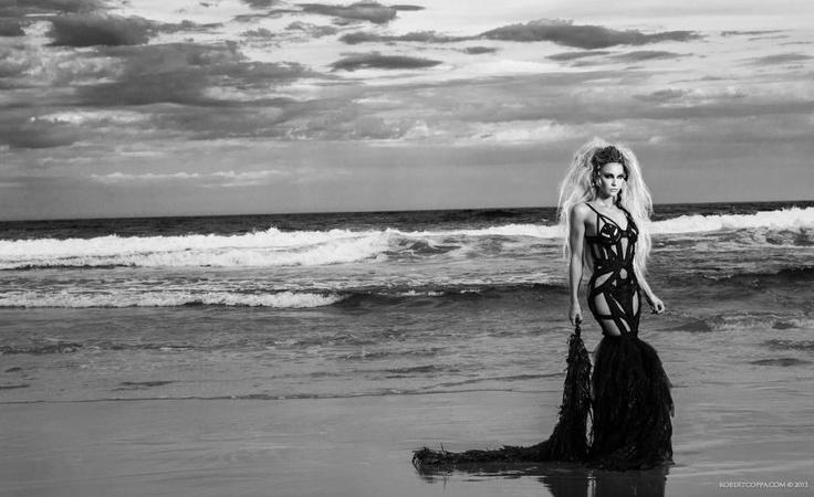 """La Strega Del Mare"" (The Sea Witch) series  Photography & Editing |- Robert Coppa © 2013.  Model |- Sarah Joseph  Dress |- Sarah Joseph Couture"