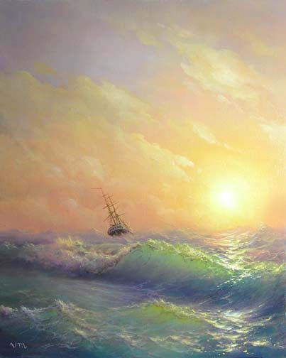 "36 - ""Storm"", 8""x 10"" original canvas giclee print"