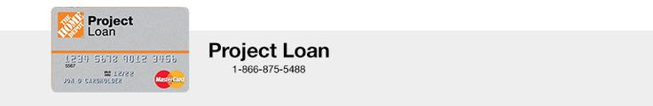Home depot project loan payment