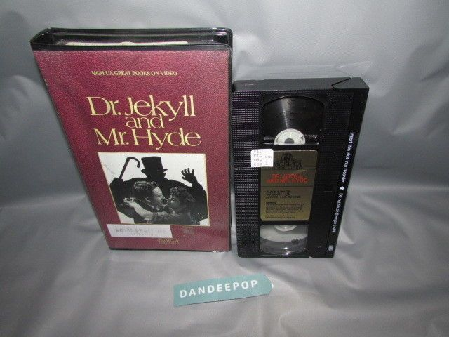 Dr. Jekyll & Mr. Hyde 1985 Black & White VHS Movie #drjekyllmrhyde #vhs #movie #dandeepop Find me at dandeepop.com