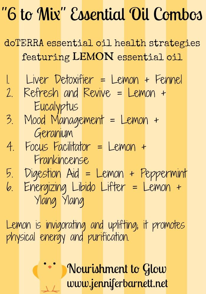 """""""6 to Mix"""" Essential Oil Combos featuring LEMON Essential Oil"""