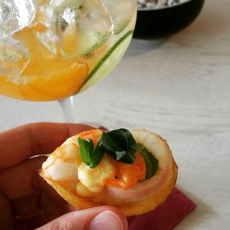 #sabores #saborestapas #tapas #shrimp #fingerfood #Prague