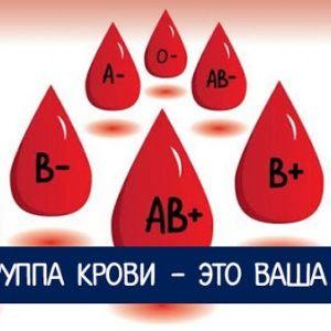 Ваша группа крови - это …