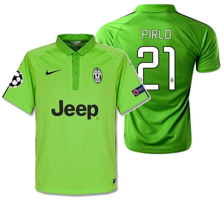 NIKE ANDREA PIRLO JUVENTUS UEFA CHAMPIONS LEAGUE THIRD JERSEY 2014/15.