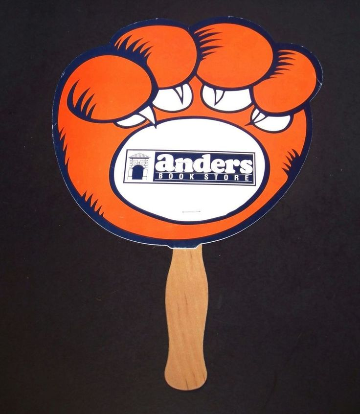 Auburn Tigers Paw Fan on Stick 2002 Football Schedule Anders Book Store Alabama