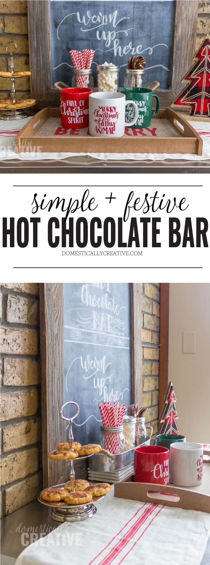 Simple hot chocolate bar #hotchocolatebar #hotcocoabar #coffeebar