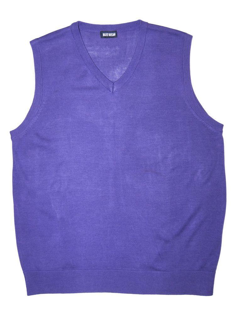 Purple Solid Sweater Vests for Men    www.yookstore.net