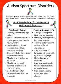Disability Fact Sheet - Autism Classroom Strategies