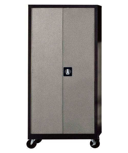 Edsal Silvervein 4 Shelf Garage Storage Cabinet - Cabinets at Hayneedle