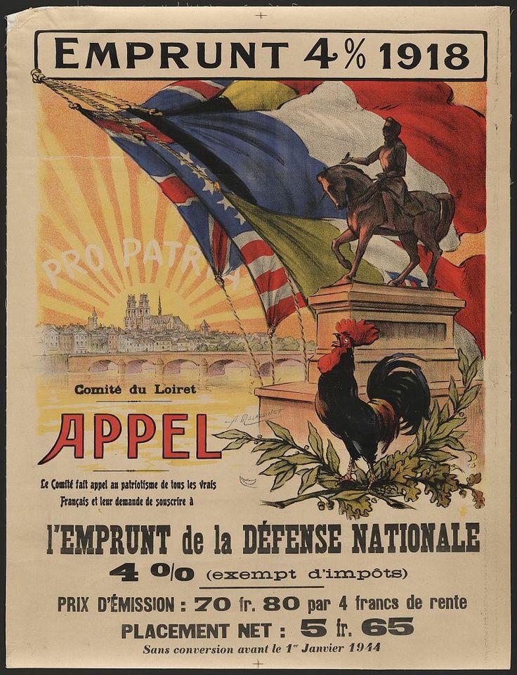 Affiche guerre 1914 - 18 - Emprunt
