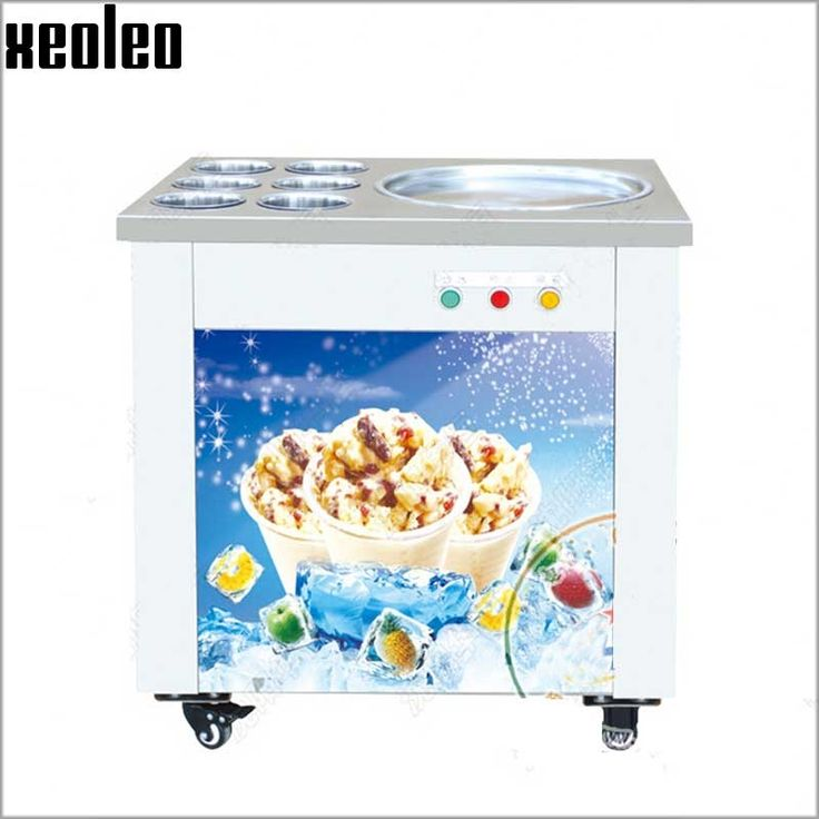 2249.40$  Buy now - http://alindt.worldwells.pw/go.php?t=32638271649 - Xeoleo Commercial Ice Frying Machine Roll Ice Cream Maker 6 Barrels 48/50cm Diameter Roll Ice Cream Machine Double Compressor