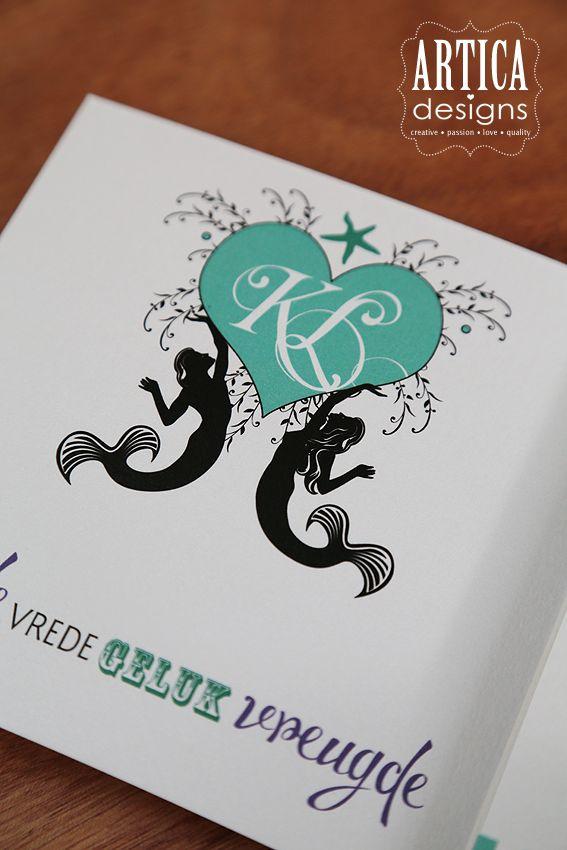 Wedding logo - sea theme