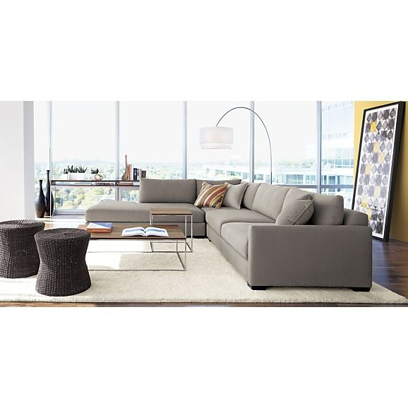 Domino 3-Piece Left Arm Sofa Sectional in Sectional Sofas | Crate ...