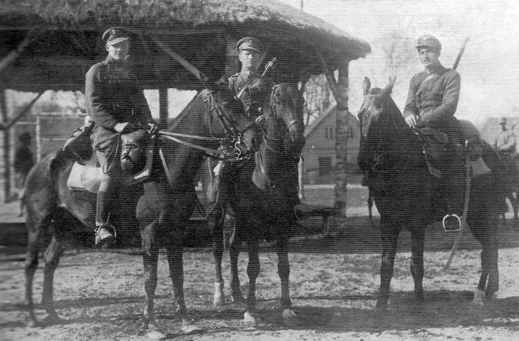 Russian Civil war /Polish Cavalry - 7th Lancer Regiment Lublin: Lida. Lancers from 1st Squadron. Spring 1919