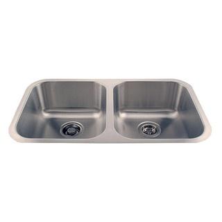 "$195 Undermount Double Stainless Sink | Overstock.com 31"" 18 gauge"