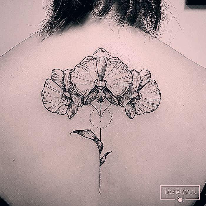 Tatouage Orchidee Le Desir A Fleur De Peau Original Tattoos Home Tattoo Flower Tattoo
