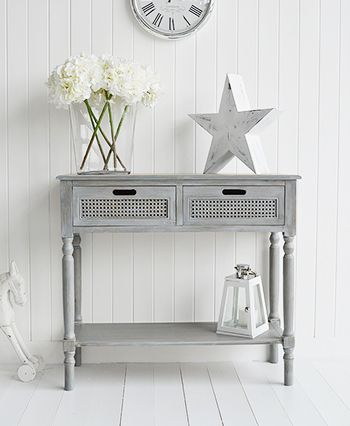 British Colonial Furniture Range - A grey console table