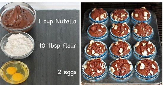 Holiday-New Year-food ideas-Nutella cupcakes