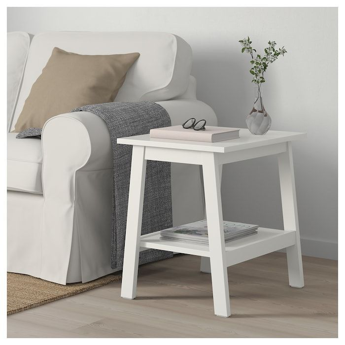 ikea lunnarp mesa auxiliar blanca 3d