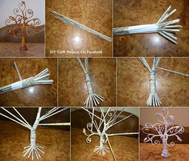 How to Make a Decorative Tree Out Of Newspaper ~ DIY Craft Project