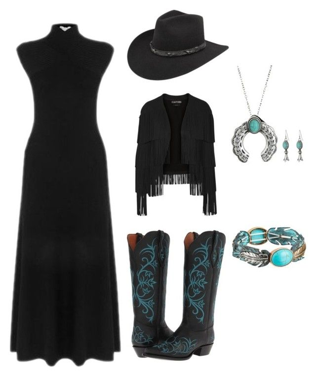 """LBD: A lil bit country!"" by im-karla-with-a-k ❤ liked on Polyvore featuring Tony Lama, Bailey Western, Tom Ford, M&F Western, Warehouse and country"
