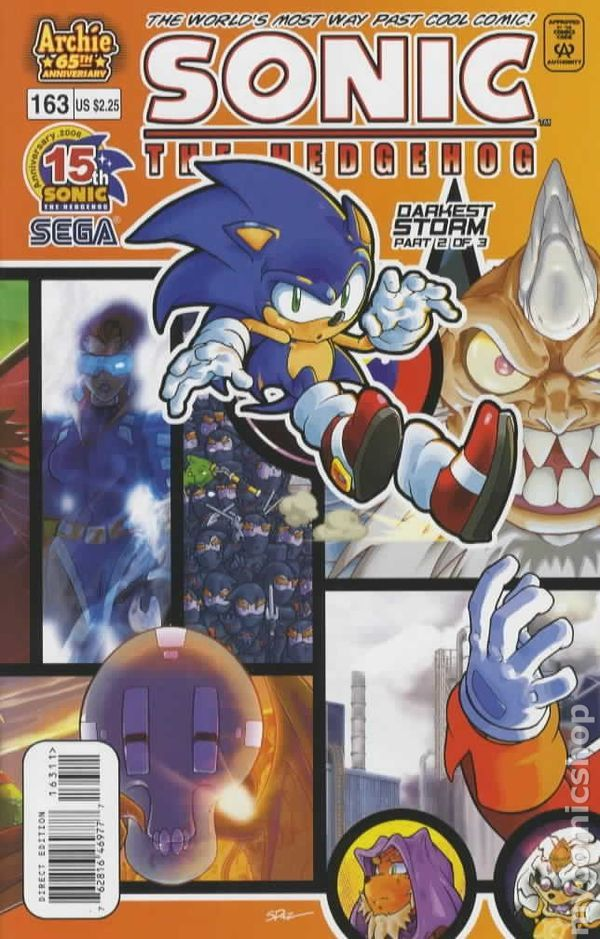 Sonic the Hedgehog (1993- Ongoing Series) 163 Archie Comics Darkest Storm 2 of 3 Cover Sega video games