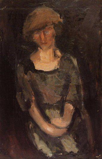 Portrait of a Woman, 1917, George Bouzianis