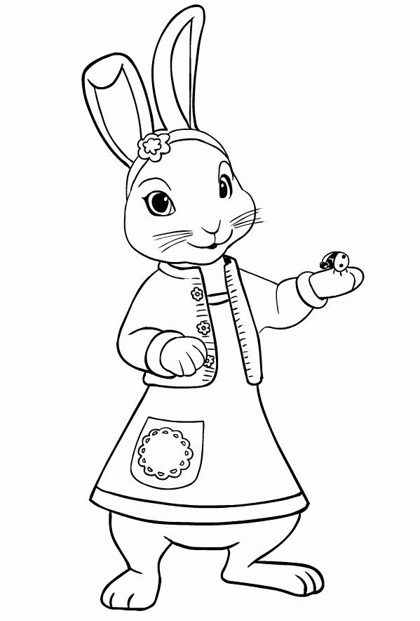 Peter Rabbit Coloring Page Awesome Drawing Of Lily Bobtail L Friend Of Peter Rabbit Coloring Page Peter Rabbit And Friends Minion Coloring Pages Coloring Pages