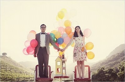 "Up themed wedding... I like this one as a balloon picture and as an ""UP"" themed picture..."