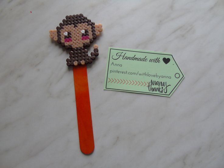 Bookmark midi hamabeads Little cute monkey   Segnalibro midi hamabeads Scimmietta   #Hamabeads #bookmark #heart #hamaboncuk #minions #hamabeads #fattoamano #segnalibro #hamaboncuk #boncuk #diy #pixelart #pyssla #evyapimi #elyapimi #minnions #hobby #hama #perlerbeads #perler #beads #handmade #perlerbead #hamabead #pixelbeads #handmadewithlove #perlers