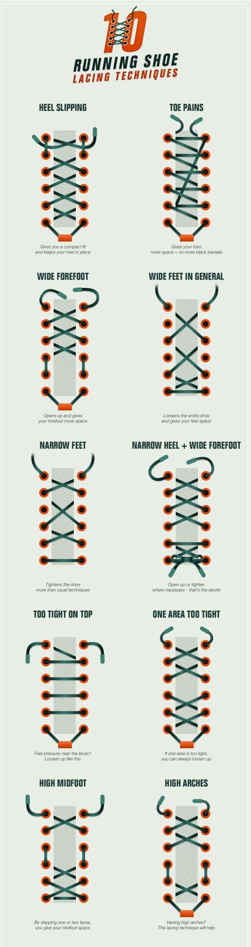 running shoe lace techniques