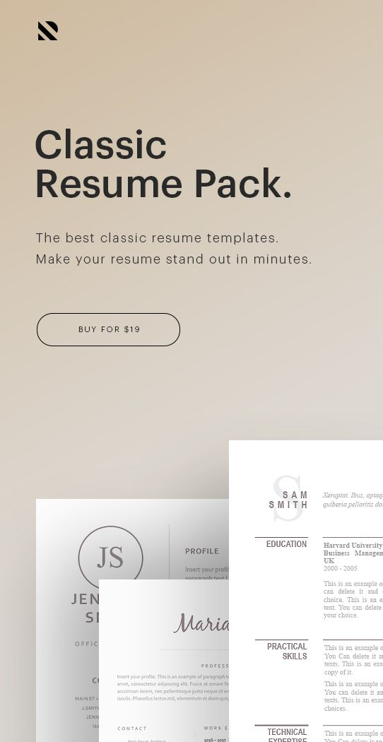 Classic Resume Pack The Best Classic Resume Templates