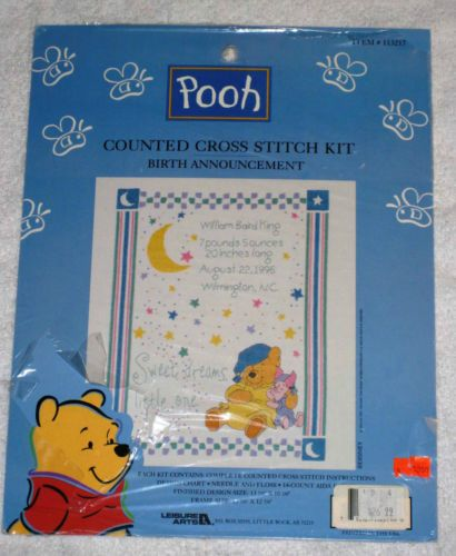 104 best cross stitch images – Winnie the Pooh Birth Announcements