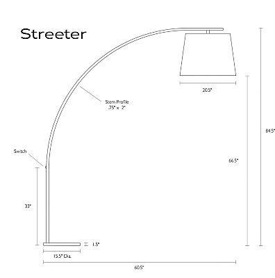 Streeter Modern Arc Floor Lamp - Modern Floor Lamps - Modern Lighting - Room & Board