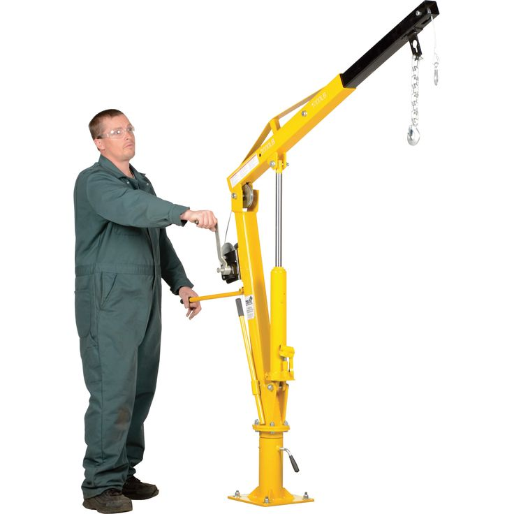 Small Jib Crane : Vestil hydraulic pickup truck jib crane with hand winch