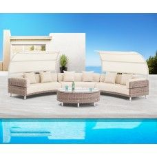 The right outdoor furniture as well as accessories for your garden adds beauty to the design of your garden like garden sofa sets.