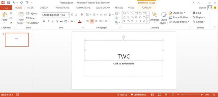 Microsoft Office 2013 PowerPoint Screen Shot, Download MS Office 2013 ISO here